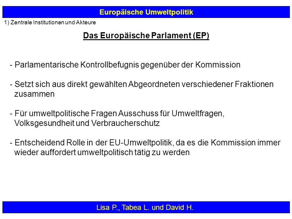 - Parlamentarische Kontrollbefugnis gegenüber der Kommission