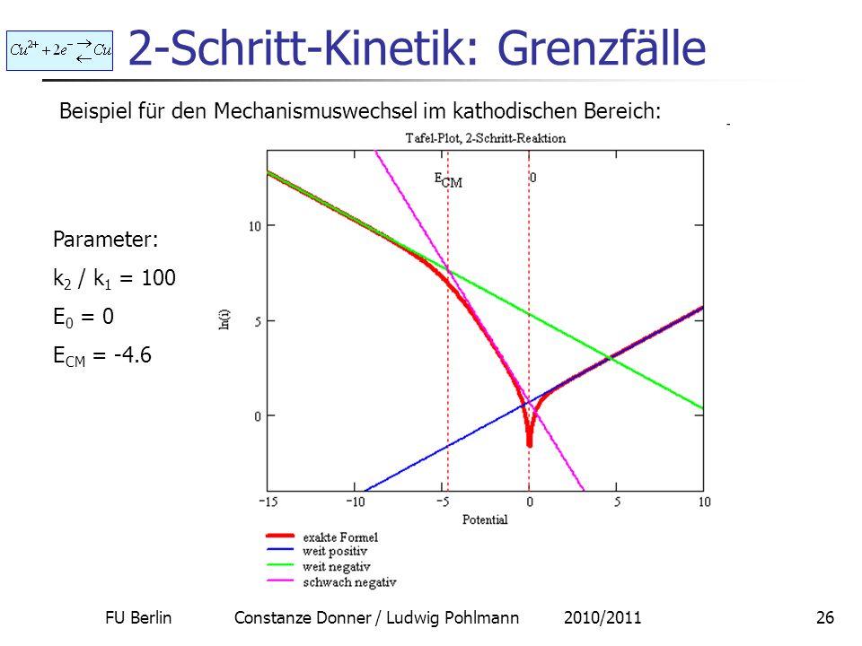 2-Schritt-Kinetik: Grenzfälle