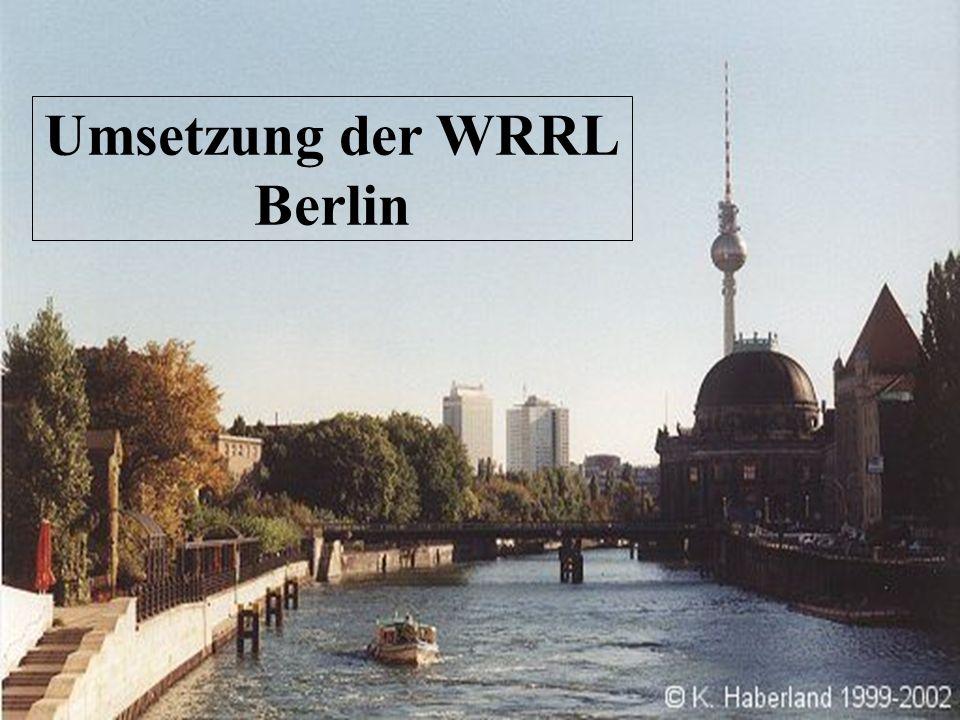 Umsetzung der WRRL Berlin