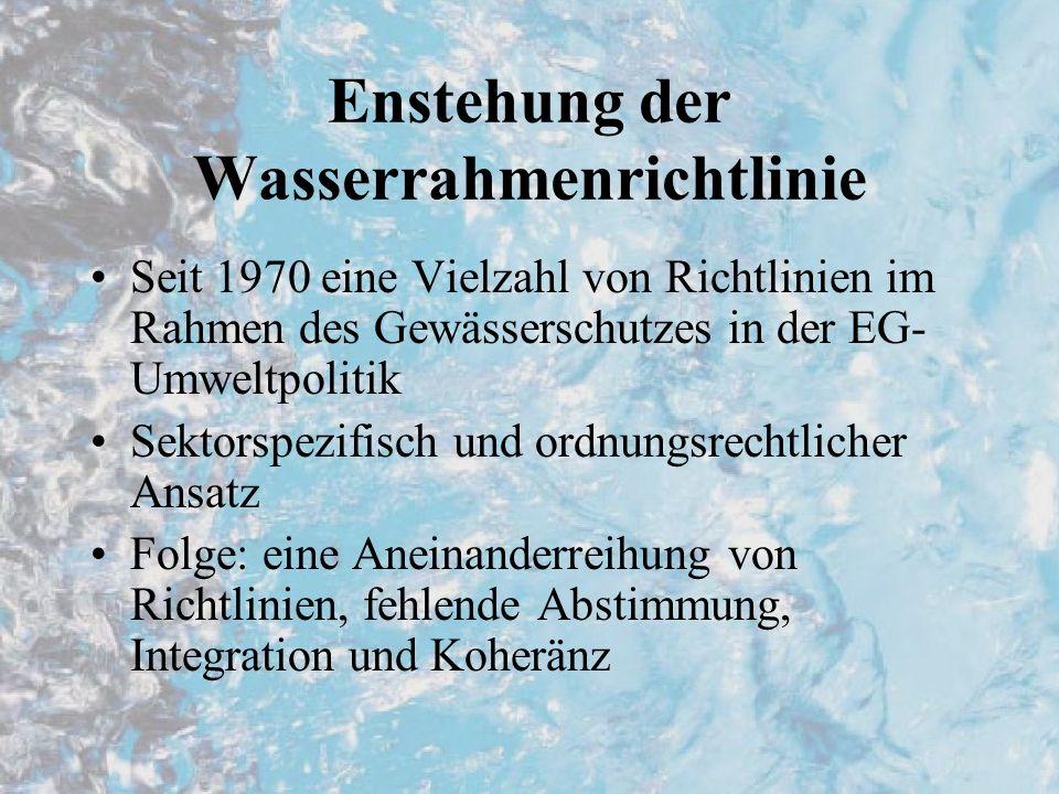 Enstehung der Wasserrahmenrichtlinie