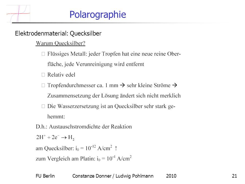 FU Berlin Constanze Donner / Ludwig Pohlmann 2010