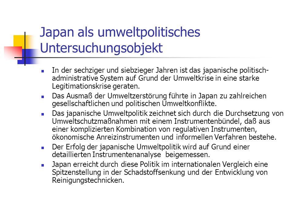 Japan als umweltpolitisches Untersuchungsobjekt