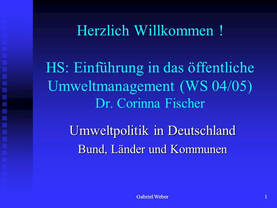 Umweltpolitik in Deutschland Bund, Länder und Kommunen