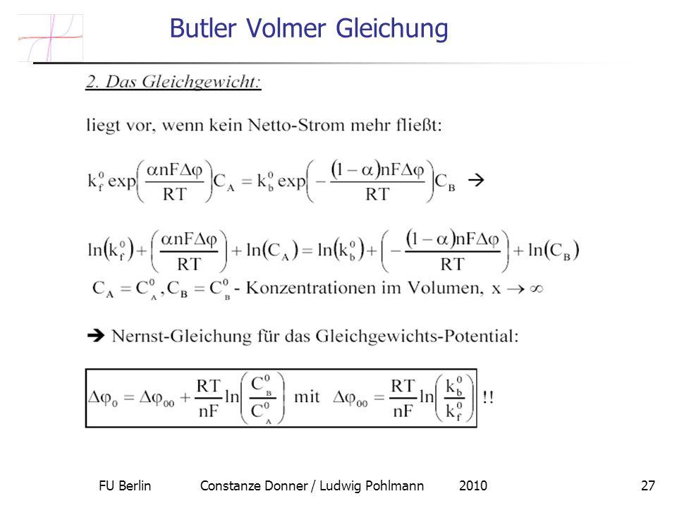 Butler Volmer Gleichung
