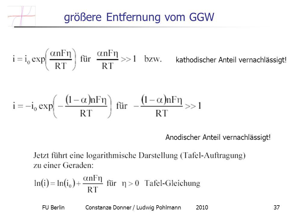 größere Entfernung vom GGW