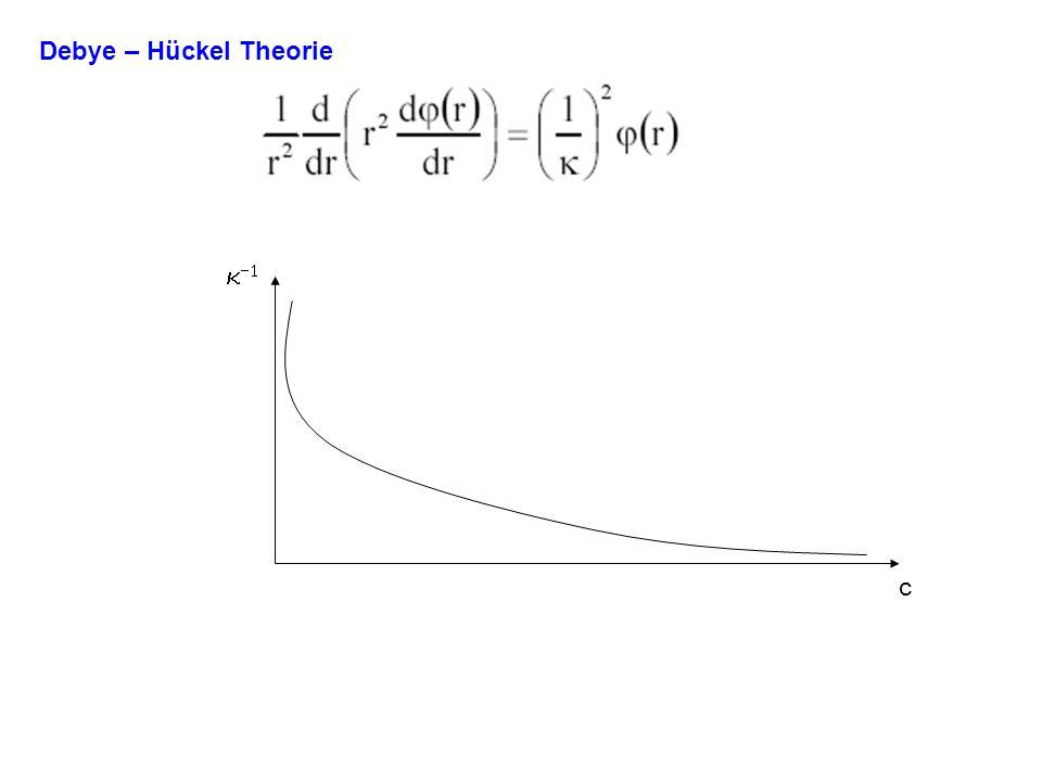 Debye – Hückel Theorie k-1 c