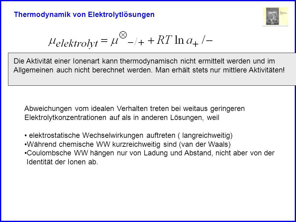 Thermodynamik von Elektrolytlösungen