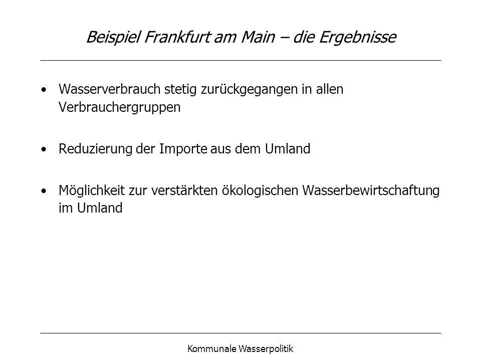 Beispiel Frankfurt am Main – die Ergebnisse
