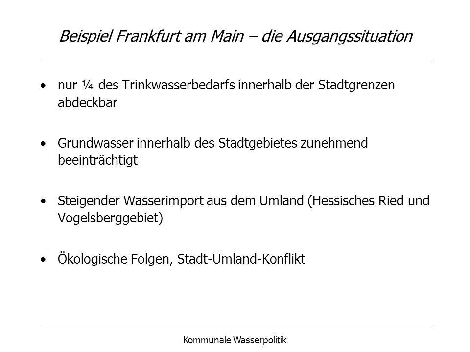 Beispiel Frankfurt am Main – die Ausgangssituation