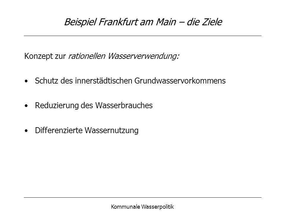 Beispiel Frankfurt am Main – die Ziele