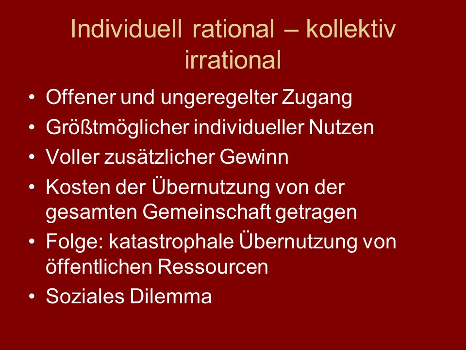 Individuell rational – kollektiv irrational