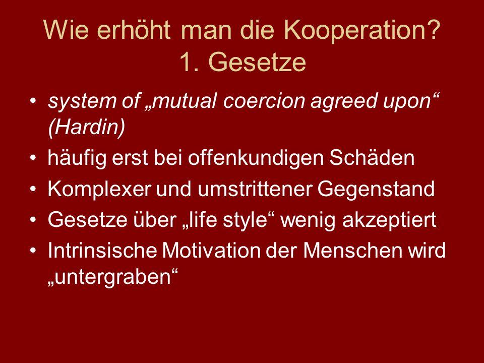 Wie erhöht man die Kooperation 1. Gesetze