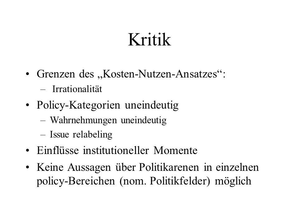 """Kritik Grenzen des """"Kosten-Nutzen-Ansatzes :"""
