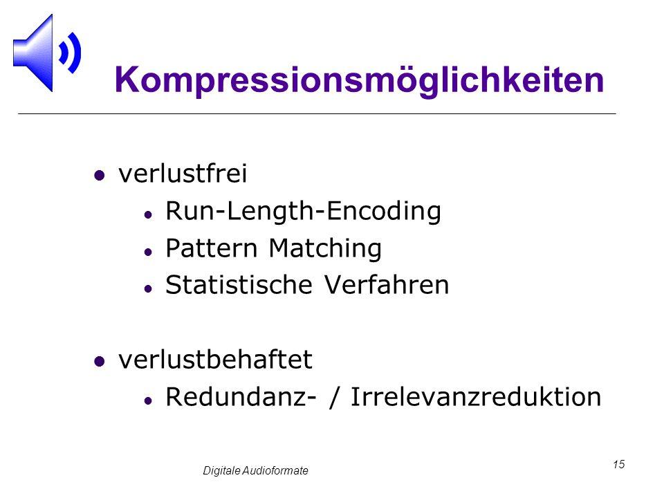 Kompressionsmöglichkeiten