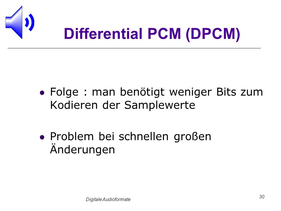 Differential PCM (DPCM)