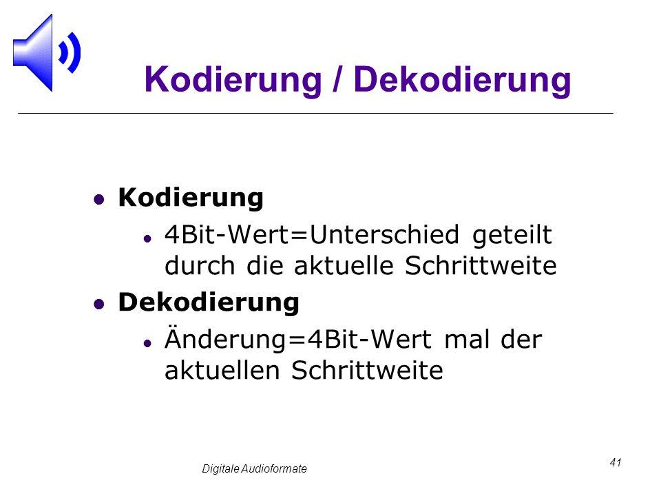 Kodierung / Dekodierung