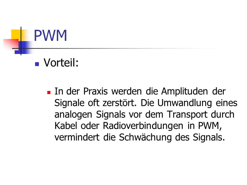 PWM Vorteil: