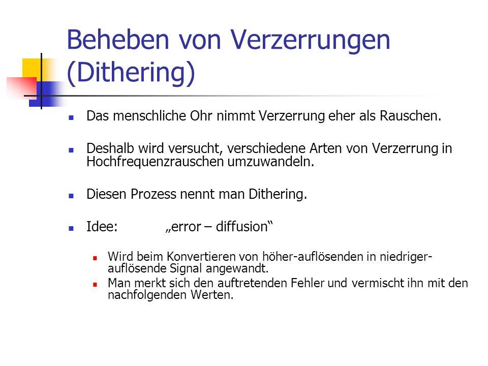 Beheben von Verzerrungen (Dithering)