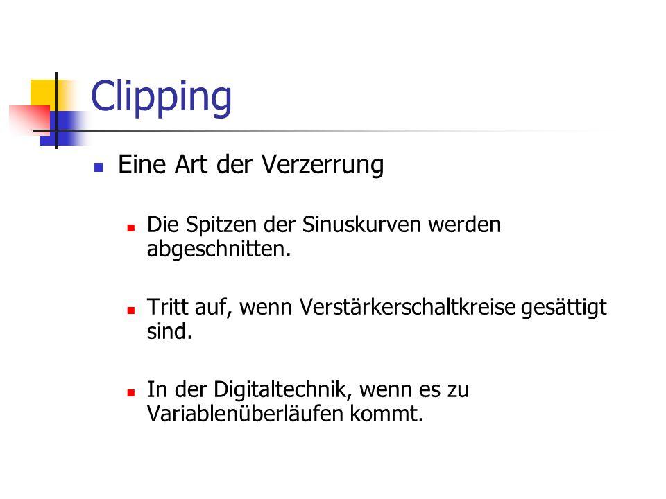 Clipping Eine Art der Verzerrung