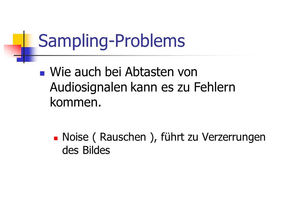 Sampling-Problems Wie auch bei Abtasten von Audiosignalen kann es zu Fehlern kommen.