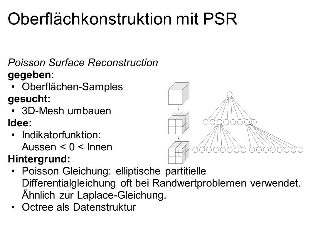 Oberflächkonstruktion mit PSR