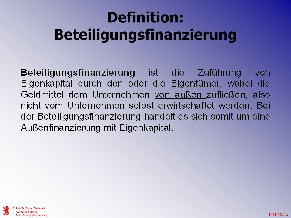 Definition: Beteiligungsfinanzierung