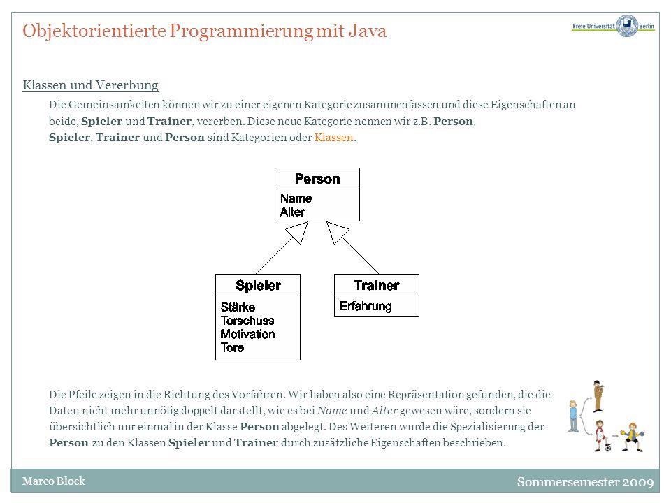Objektorientierte Programmierung mit Java Klassen und Vererbung