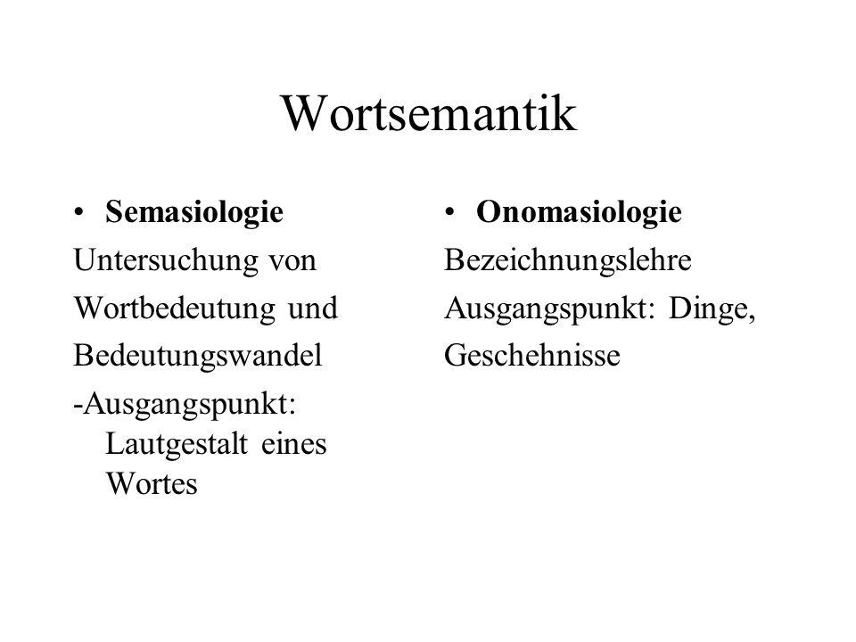 Wortsemantik Semasiologie Untersuchung von Wortbedeutung und