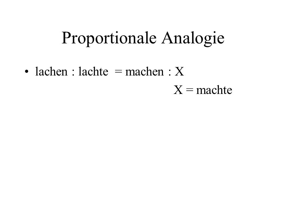 Proportionale Analogie