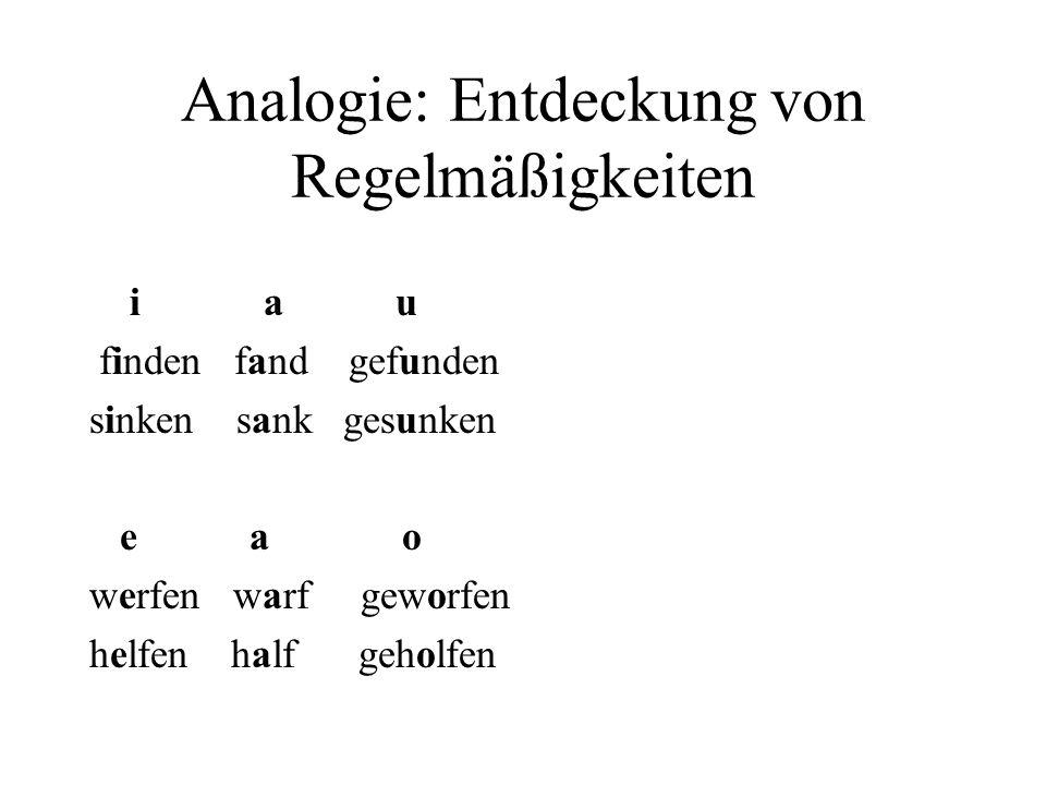 Analogie: Entdeckung von Regelmäßigkeiten