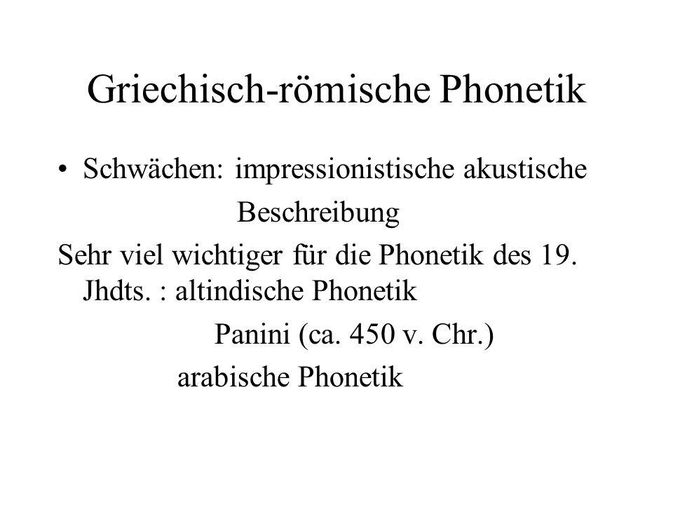 Griechisch-römische Phonetik