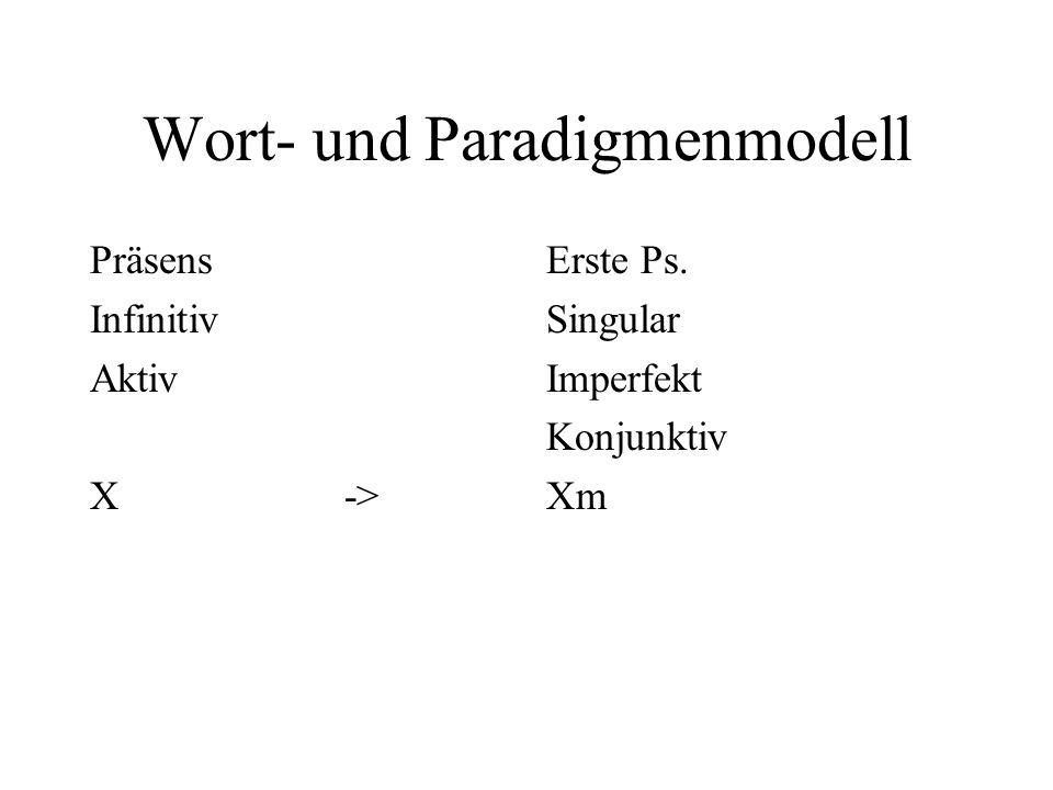 Wort- und Paradigmenmodell