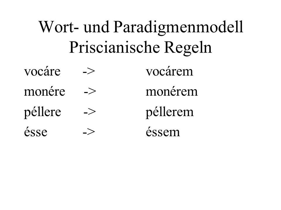 Wort- und Paradigmenmodell Priscianische Regeln