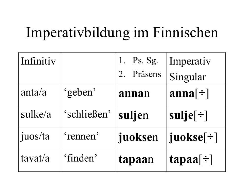 Imperativbildung im Finnischen