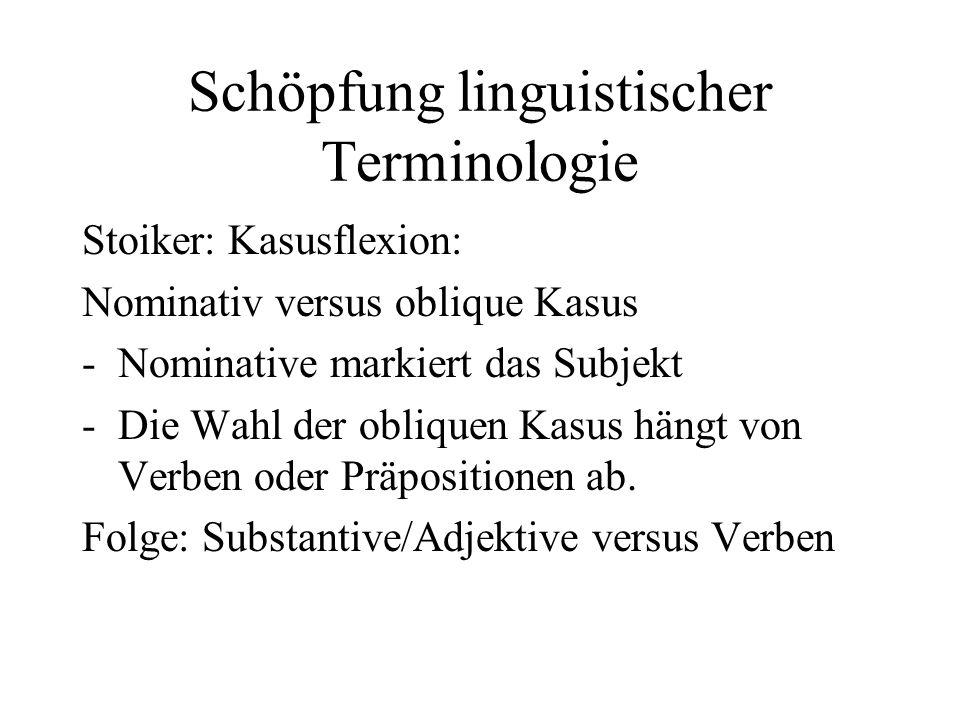 Schöpfung linguistischer Terminologie