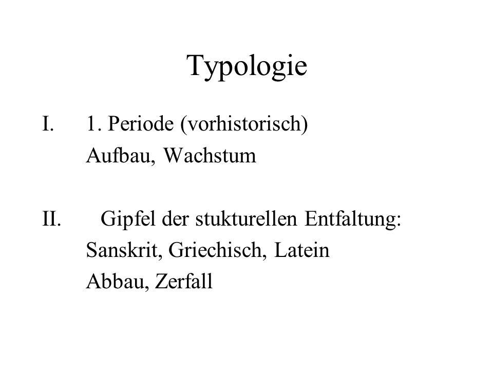 Typologie 1. Periode (vorhistorisch) Aufbau, Wachstum