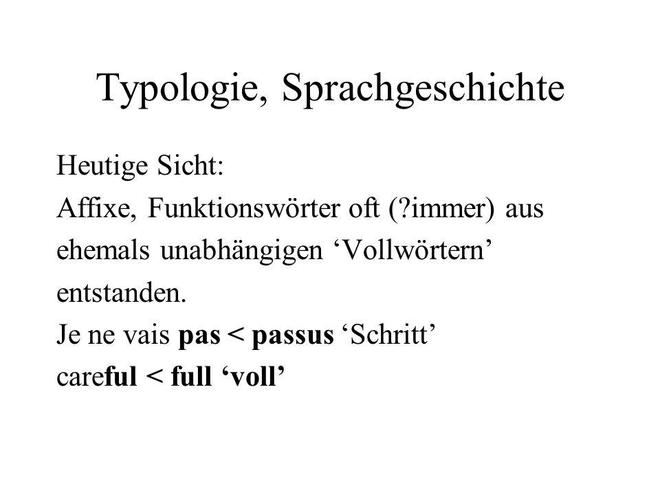 Typologie, Sprachgeschichte