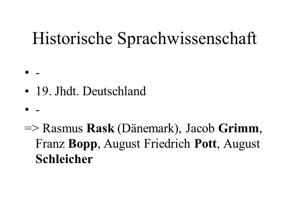 Historische Sprachwissenschaft
