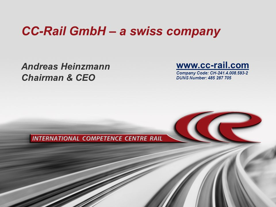 CC-Rail GmbH – a swiss company