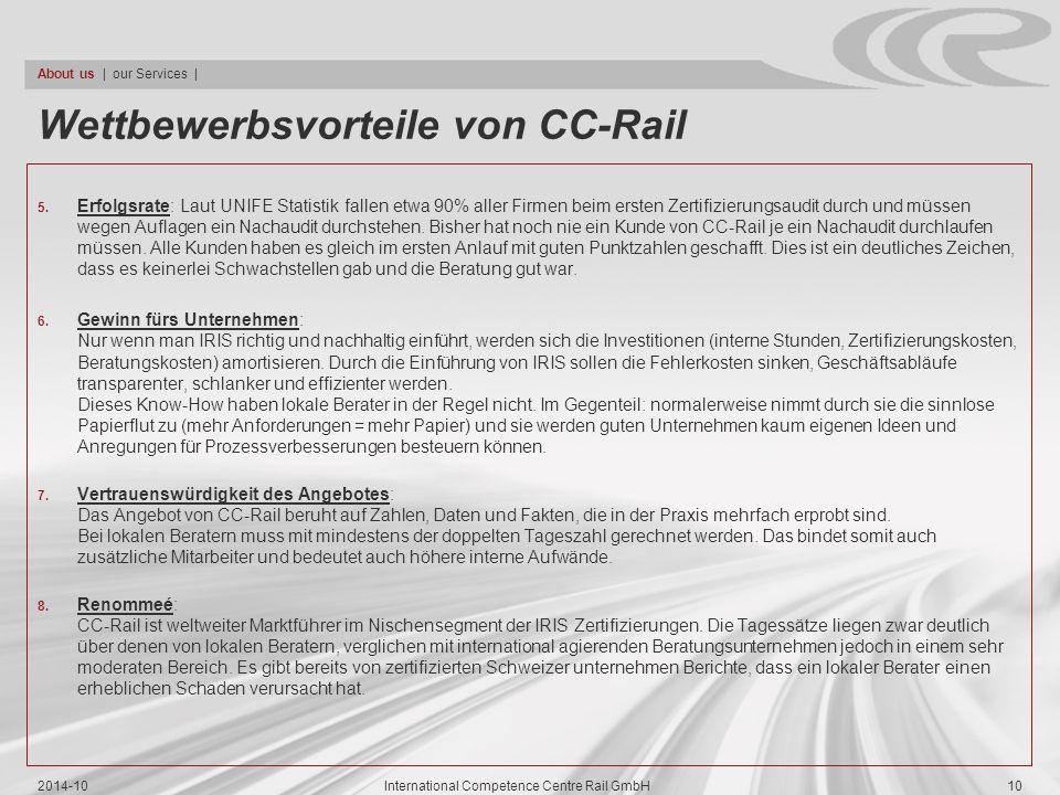 Wettbewerbsvorteile von CC-Rail
