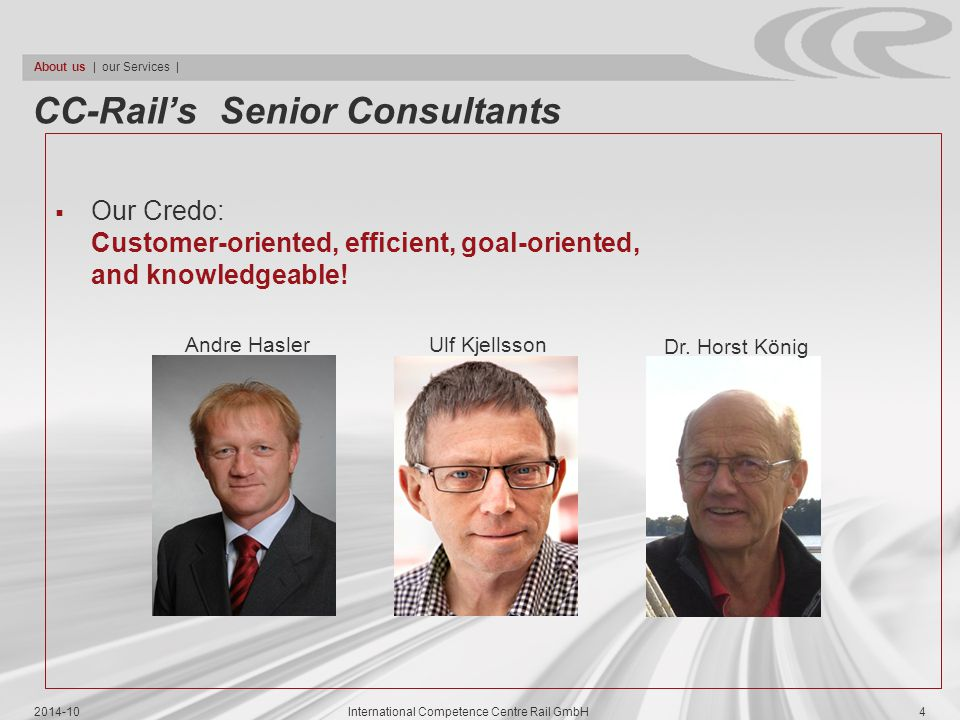 CC-Rail's Senior Consultants