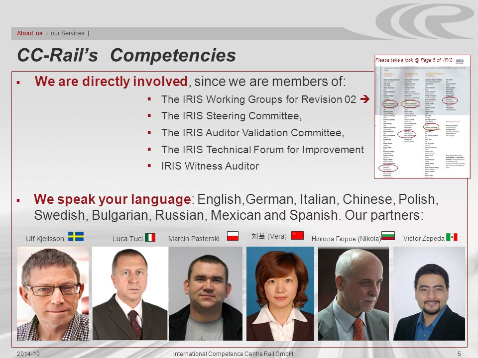 CC-Rail's Competencies