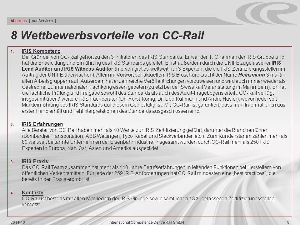 8 Wettbewerbsvorteile von CC-Rail