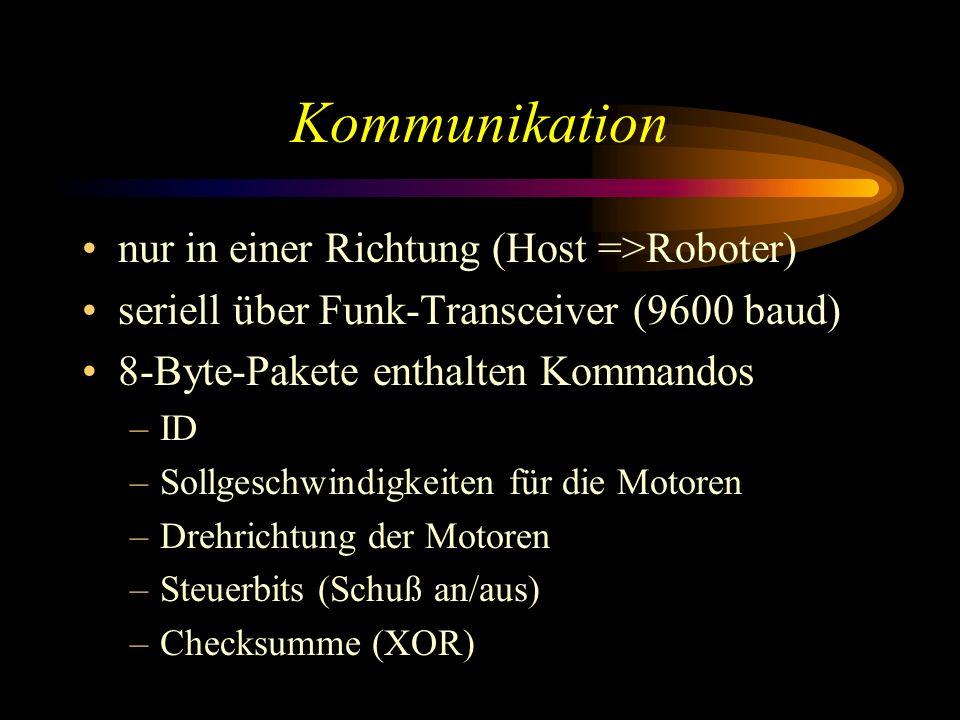 Kommunikation nur in einer Richtung (Host =>Roboter)