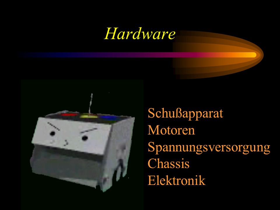Hardware Schußapparat Motoren Spannungsversorgung Chassis Elektronik