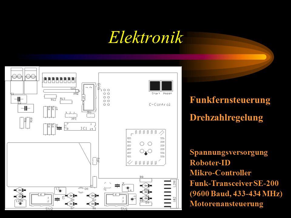 Elektronik Funkfernsteuerung Drehzahlregelung Spannungsversorgung