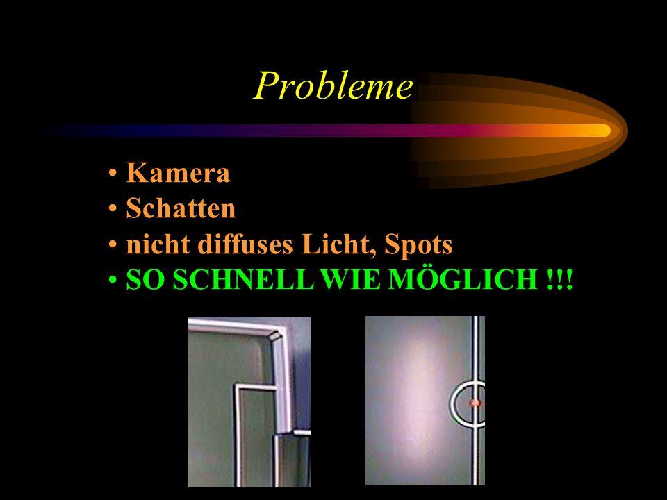 Probleme Kamera Schatten nicht diffuses Licht, Spots