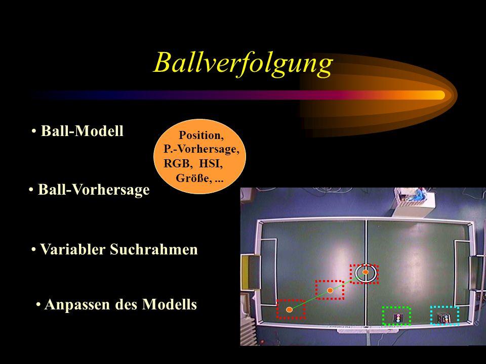 Ballverfolgung Ball-Modell Ball-Vorhersage Variabler Suchrahmen