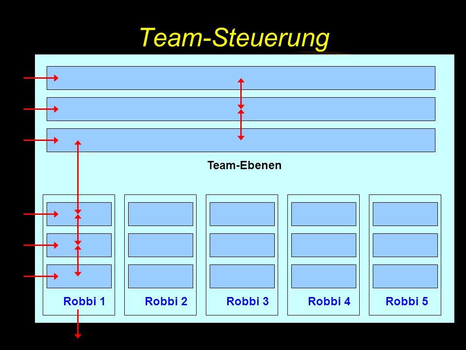 Team-Steuerung Team-Ebenen Robbi 1 Robbi 2 Robbi 3 Robbi 4 Robbi 5