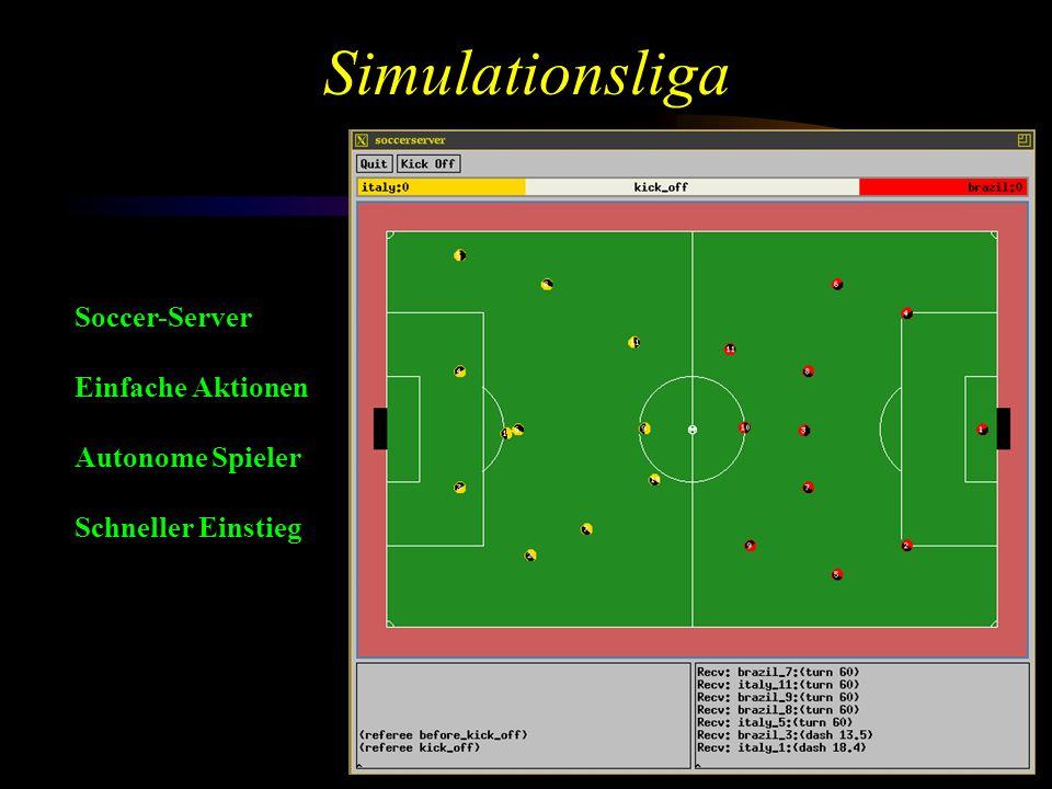 Simulationsliga Soccer-Server Einfache Aktionen Autonome Spieler